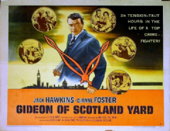 Gideon of Scotland Yard 1958 DVD - Jack Hawkins